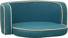 vidaXL Foldable Dog Sofa Turquoise 76x71x30 cm