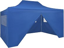 vidaXL Foldable Tent Pop-Up with 4 Side Walls