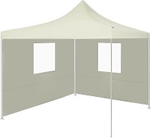 vidaXL Foldable Tent with 2 Walls 3x3 m Cream