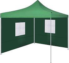 vidaXL Foldable Tent with 2 Walls 3x3 m Green