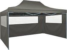vidaXL Foldable Tent with 3 Walls 3x4.5 m
