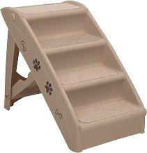 vidaXL Folding Dog Stairs Brown 62x40x49.5 cm