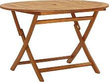vidaXL Folding Garden Table 120 cm Solid Acacia