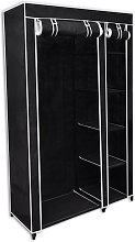 vidaXL Folding Wardrobe Black 110x45x175 cm