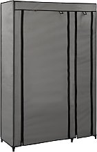 vidaXL Folding Wardrobe Grey 110x45x175 cm Fabric