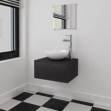 vidaXL Four Piece Bathroom Furniture Set with