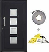 vidaXL Front Door Anthracite 88x200 cm - Grey