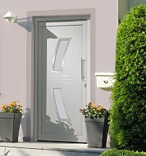 vidaXL Front Door White 108x200 cm - White