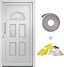 vidaXL Front Door White 110x210 cm - White
