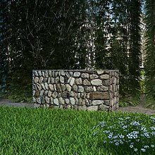 vidaXL Gabion Basket Steel 100x50x50cm Outdoor