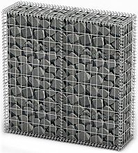 vidaXL Gabion Basket with Lid Galvanized Wire
