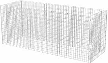 vidaXL Gabion Planter Steel 270x90x100cm Outdoor