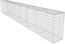 vidaXL Gabion Wall with Cover 600x50x100cm Basket