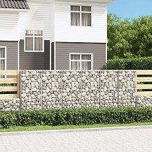 vidaXL Gabion Wall with Covers Galvanised Steel
