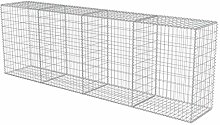 vidaXL Gabion Wall with Covers Galvanised Steel