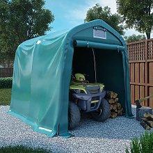 vidaXL Garage Tent PVC 2.4x2.4 m Green