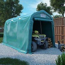 vidaXL Garage Tent PVC 2.4x3.6 m Green