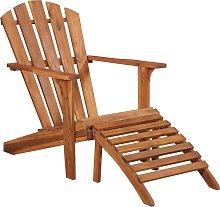 vidaXL Garden Adirondack Chair with Footrest Solid