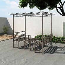 vidaXL Garden Arbor with Two Benches and a Table