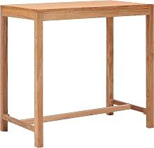 vidaXL Garden Bar Table 110x60x105 cm Solid Teak