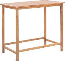 vidaXL Garden Bar Table 120x65x110 cm Solid Teak