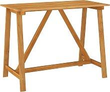 vidaXL Garden Bar Table 140x70x104 cm Solid Acacia
