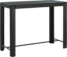 vidaXL Garden Bar Table Black 140.5x60.5x110.5 cm
