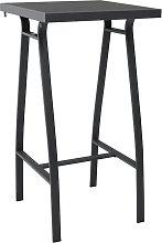 vidaXL Garden Bar Table Black 60x60x110 cm