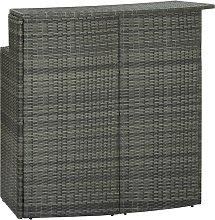 vidaXL Garden Bar Table Grey 120x55x110 cm Poly