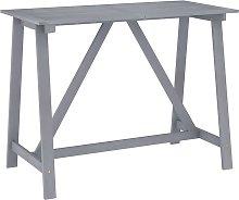 vidaXL Garden Bar Table Grey 140x70x104 cm Solid