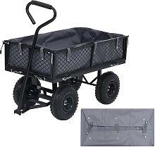 vidaXL Garden Cart Liner Dark Grey 86x46x22 cm