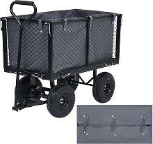 vidaXL Garden Cart Liner Dark Grey 86x46x41 cm
