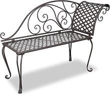 vidaXL Garden Chaise Lounge 128 cm Steel Antique