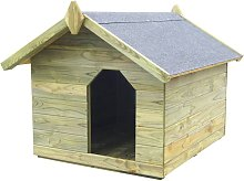 vidaXL Garden Dog House with Opening Roof