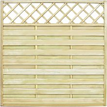 vidaXL Garden Fence Panel with Trellis Wood