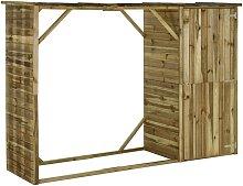vidaXL Garden Firewood Tool Storage Shed Pinewood