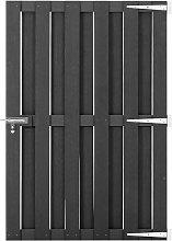 vidaXL Garden Gate WPC 100x150 cm Grey