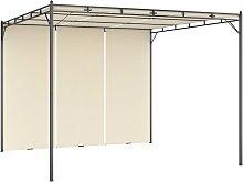 vidaXL Garden Gazebo with Side Curtain 3x3x2.25m
