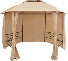 vidaXL Garden Marquee Pavilion Tent with Curtains