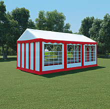 vidaXL Garden Marquee PVC 3x6 m Red and White