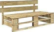 vidaXL Garden Pallet Bench Wood