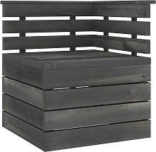 vidaXL Garden Pallet Corner Sofa Solid Pinewood