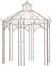 vidaXL Garden Pavilion Antique Brown 3 m Iron