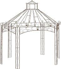 vidaXL Garden Pavilion Antique Brown 400x258x378