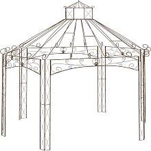 vidaXL Garden Pavilion Antique Brown 558x350x408