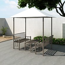 vidaXL Garden Pavilion with Table and Benches