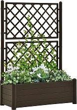 vidaXL Garden Planter with Trellis 100x43x142 cm