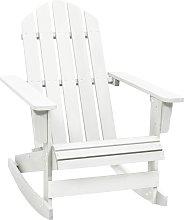 vidaXL Garden Rocking Chair Wood White