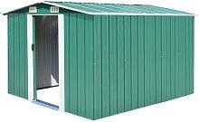 vidaXL Garden Shed 257x298x178 cm Metal Green