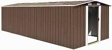 vidaXL Garden Shed 257x580x181 cm Metal Brown